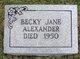 Profile photo:  Becky Jane <I>Essary</I> Alexander