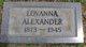 Profile photo:  Lovanna <I>Tulley</I> Alexander