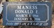 Donald Earl Maness