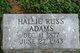 Hallie D. <I>Ellis</I> Adams