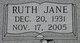 Ruth Jane <I>Bell</I> Baker