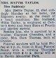 Hattie Taylor