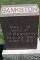 Mary Matilda <I>Webb</I> Bankston