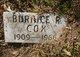 Burnice R Cox