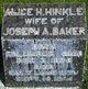 Alice Hyde <I>Hinkle</I> Baker