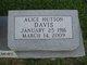 Profile photo:  Alice <I>Hutson</I> Davis