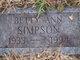 Betty Ann <I>Ellsworth</I> Simpson