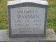 Mildred E Wayman