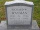 Richard W Wayman