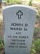 "Profile photo:  John David ""Johnny"" Ward, Sr"