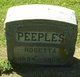 Profile photo:  Rosetta Peeples