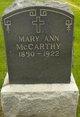 Mary Ann <I>Sullivan</I> McCarthy