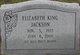 Elizabeth <I>King</I> Jackson