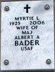 Myrtie Loveline <I>Marshall</I> Bader