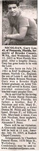 "Profile photo:  Gary Lee ""Nick"" Nicoloan"