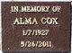 Profile photo:  Alma Loree Cox