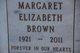 Margaret Elizabeth Brown