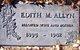Profile photo:  Edith Maud <I>Pritchard</I> Allyn