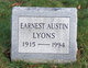 Profile photo:  Earnest Austin Lyons