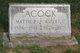 Profile photo:  Mattie Pearl <I>Cole</I> Acock