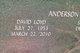 David Loyd Anderson