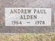 Profile photo:  Andrew Paul Alden