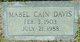 Mabel <I>Cain</I> Davis