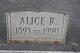 Alice <I>Reeves</I> White