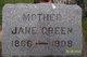 Jane G <I>Dufoe</I> Green