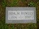 Profile photo:  Ada M. Bowles