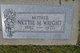 Nettie Mae <I>Wallace</I> Wright