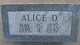 Profile photo:  Alice D <I>Batsell</I> Adam