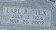 "Profile photo:  Earl R. ""Tex"" Adams"