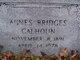 Profile photo:  Agnes <I>Bridges</I> Calhoun