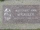 Profile photo:  Margaret Ann McGauley