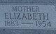 Profile photo:  Elizabeth <I>Hutchinson</I> Flora