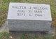 Walter Jackson Wilson