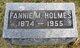 Profile photo:  Fannie May <I>McCreight</I> Holmes