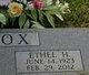 Ethel Elizabeth <I>Hodges</I> Cox
