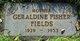 "Profile photo:  Geraldine ""Jerry"" Fields"