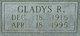 "Gladys Marjorie ""Pee-Wee"" <I>Rowland</I> Goins"