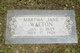 Martha Jane <I>Sheffield</I> Walton
