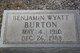 Benjamin Wyatt Burton