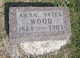 Anna <I>Yates</I> Wood