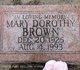 Profile photo:  Mary Dorothy <I>Turner</I> Brown