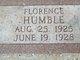 Profile photo:  Florence Humble