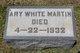 Ary <I>White</I> Martin
