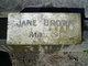 "Profile photo:  Janet ""Jane"" <I>Anderson</I> Brown"