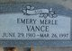 Profile photo:  Emery Merle Vance