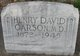 Profile photo: Dr Henry David Carson